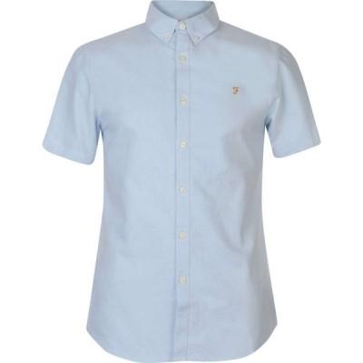 ファーラーヴィンテージ Farah Vintage メンズ 半袖シャツ トップス Farah Short Sleeve Shirt SKY BLUE