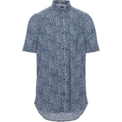 アルマーニ ARMANI EXCHANGE メンズ シャツ トップス patterned shirt Blue
