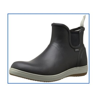 【新品】Bogs Women's Quinn Slip ON Boot Rain, Black, 10 M US【並行輸入品】