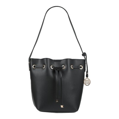 MANOUKIAN ハンドバッグ ブラック 紡績繊維 ハンドバッグ