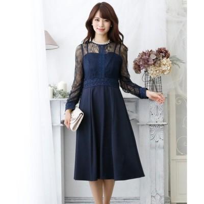 ドレス ヴィンテージラダーレーススカートドレス/結婚式ワンピース お呼ばれ・二次会・セレモニー大きいサイズ対応フォーマルパーティードレス