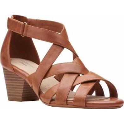 クラークス レディース サンダル シューズ Women's Clarks Lorene Pop Strappy Sandal Tan Leather