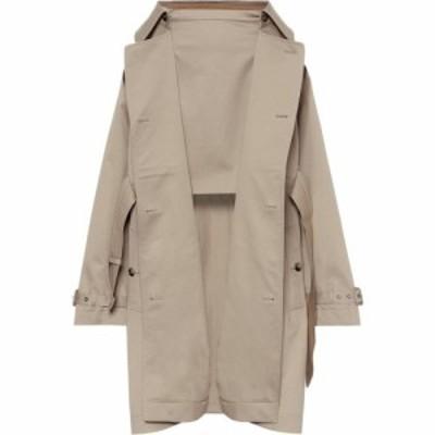 バーバリー Burberry レディース トレンチコート アウター cotton-gabardine trench coat Soft Fawn