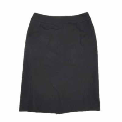 【中古】プロポーション ボディドレッシング PROPORTION BODY DRESSING メルトン ウール ハーフ タイト スカート 黒