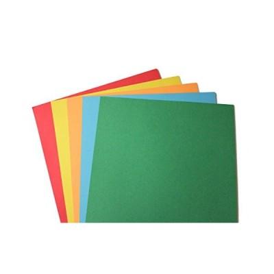 24ポンドのボンド紙 明るいレインボーアソートカラー用紙 レターサイズ 8 1/2インチ x 11インチ 100 Sheets