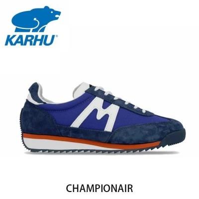 KARHU カルフ メンズ レディース スニーカー チャンピオンエア CHAMPIONAIR スウェード×ナイロン クラシックブルー×ホワイト ローカット 定番 北欧 KH805002