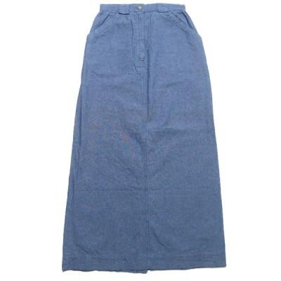 NEW RUFF HEWN シャンブレー ロングスカート サイズ表記:6