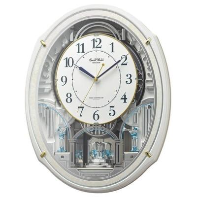 RHYTHM リズム SmallWorld 電波からくり掛け時計 スモールワールドアルディ4MN553RH03 プレート文字刻印可能