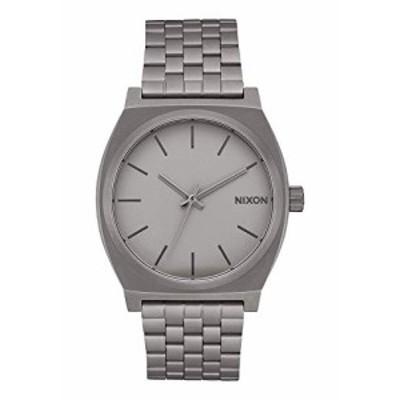Nixon Time Teller A045 100m防水腕時計 37mmステンレススチール時計面 ダークスチール