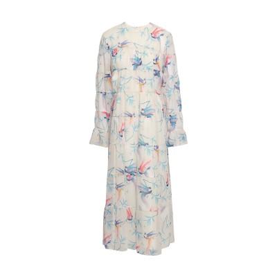 BORGO DE NOR 7分丈ワンピース・ドレス ホワイト 12 ポリエステル 100% 7分丈ワンピース・ドレス