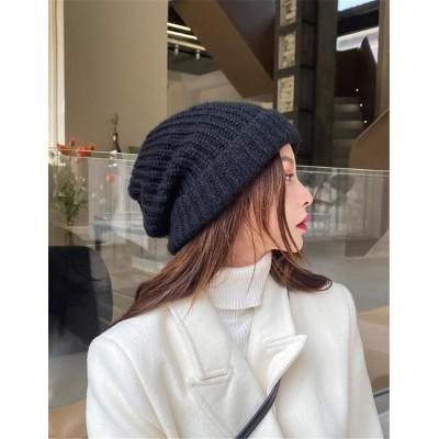 生地は全部いいです INSスタイル 大人気 折りたたみ式 個性 女性 秋 冬 暖かい オシャレ 小さな顔 ニット 帽子 百掛け
