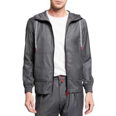 キートン メンズ コート アウター Men's Full-Zip Wool Hoodie