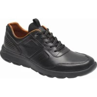 Rockport メンズスニーカー Rockport Lets Walk Ubal Sneaker Black Leather