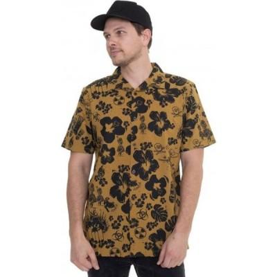 ヴァンズ Vans メンズ シャツ トップス - Dark Aloha Woven Dried Tobacco/Dark Aloha - Shirt brown