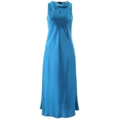 SIES MARJAN/シエスマルジャン Blue Sies marjan andy glossy satin dress レディース 春夏2020 16YB5261 8847 ik