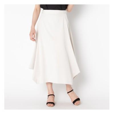 【エリオポール/HELIOPOLE】 HELIOPOLE 《MORE SALE》ストレッチギャバ 台形ヘムスカート