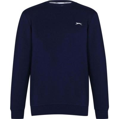 スラセンジャー Slazenger メンズ スウェット・トレーナー トップス Sweater Navy