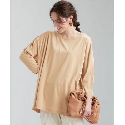 (green label relaxing/グリーンレーベルリラクシング)[ Livelihood (ライブリフッド) ] SC ハイゲージ オーバーサイズ Tシャツ/レディース BEIGE