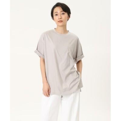I.T.'S. international/イッツインターナショナル クルーネックオーバーサイズTシャツ グレー1 00