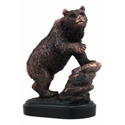 Gifts  Decor Ebros Grizzly Bear Climbing On River Rock Statue 625 Tall Bronze Electroplated Wildlife Animal Bear Figurine