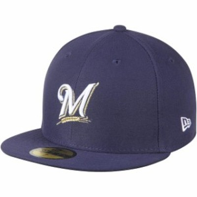 New Era ニュー エラ スポーツ用品  New Era Milwaukee Brewers Womens Navy Authentic Collection On-Field 59FIFTY Fitted