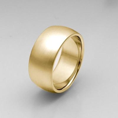 K18リング 平甲丸9mm18gヘアーライン オーダー 結婚指輪 18金 高密度 鍛造 たんぞう 記念日 ギフト