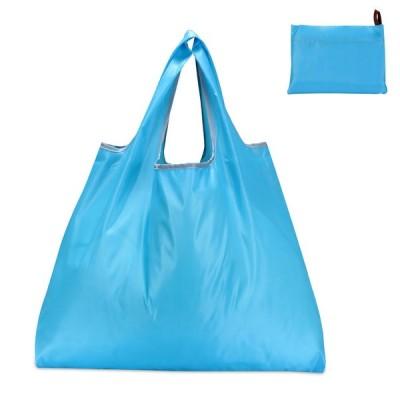 Etercycle 買い物袋 エコバッグ 折りたたみ コンパクト 買い物バッグ 防水素材 折り畳みバッグ トートバッグ 携帯便利 収納袋 男女兼用 (スカイブルー)