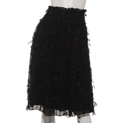 archives (アルシーヴ) レディース a-ファンシーシフォンギャザースカート BLACK M
