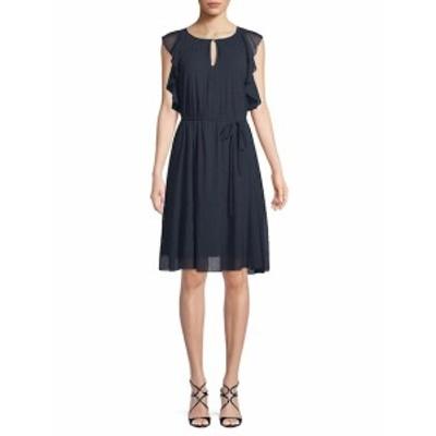 エレントレーシー レディース ワンピース Ruffle-Trimmed Knee-Length Dress
