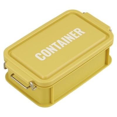 コンテナ ランチボックス お弁当箱 1段 600ml 仕切付 男性 レンジ対応 食洗機対応 おしゃれ イエロー 日本製 OSK CNT-600
