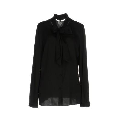 アルマーニ コレッツィオーニ ARMANI COLLEZIONI シャツ ブラック 46 シルク 95% / ポリウレタン 5% シャツ