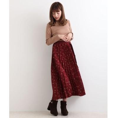 ベルト付プリーツスカート