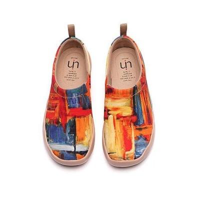 [UIN] スリッポン アート メンズ レディース カジュアル カップル スニーカー デッキシューズ キャンバス地 くつ 歩きやすい 旅靴 シューズ