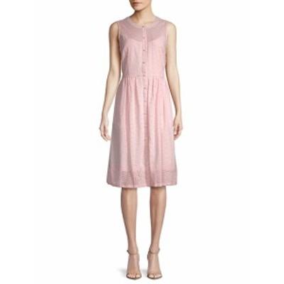 カールラガーフェルドパリ レディース ワンピース Eyelet Cotton A-Line Dress