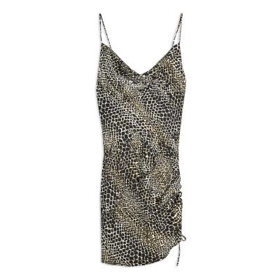 トップショップ TOPSHOP ミニワンピース&ドレス ブラック 6 ポリエステル 100% ミニワンピース&ドレス