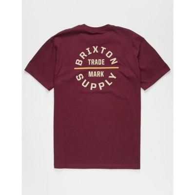 ブリクストン BRIXTON メンズ Tシャツ トップス Oath V T-Shirt BURGUNDY