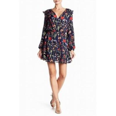 Parker パーカー ファッション ドレス Parker NEW Blue Womens Size Medium M Floral Print V-Neck Sheath Dress
