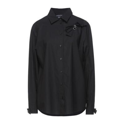 BOUTIQUE MOSCHINO シャツ ブラック 44 コットン 100% シャツ