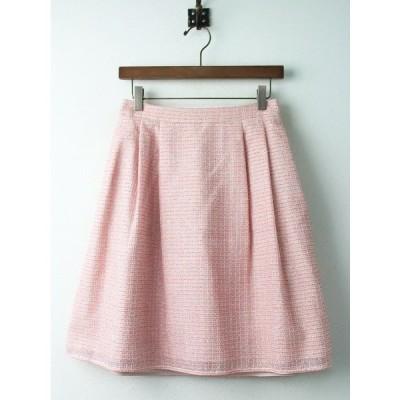【セール20%OFF!】TOCCA トッカ HOLLYWOOD スカート 2/ピンク ボトムス ツイード フレア  2400010753114