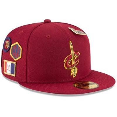 ニューエラ メンズ 帽子 アクセサリー Cleveland Cavaliers New Era 2018 Draft 59FIFTY Fitted Hat Burgundy
