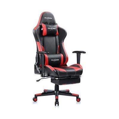 GALAXHERO ゲーミングチェア オットマン フィットレスト げーみんくチェア eスポーツ用椅子 リクライニング PUレ?