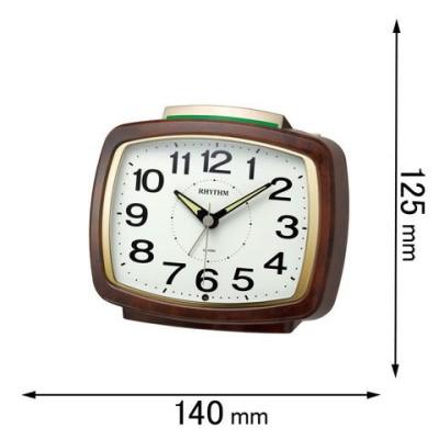時計 目覚まし時計 リズム 目覚まし時計 ピュアライトR649 8RA649SR23 【返品種別A】