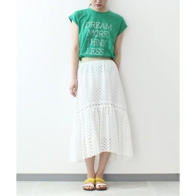 スカート アイレット刺繍スカート