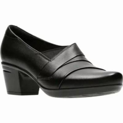 クラークス ブーツ Emslie Warbler Bootie Black Full Grain Leather