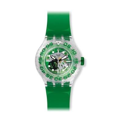 Swatch SUUK104 43mm Green Plastic Band & Case Glass Men's & Women's Watch 並行輸入品