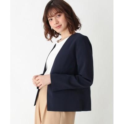 SHOO・LA・RUE / 【M-LL/洗える】WクロスVネックジャケット WOMEN ジャケット/アウター > テーラードジャケット