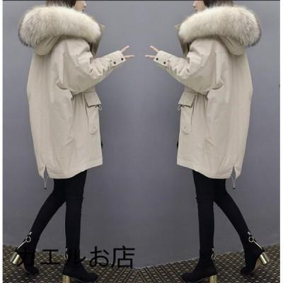 ダウンジャケット レディース ロング ダウンコート 着痩せ フード アウター ロングコート 冬 暖かい 防寒服 20代 30代 40代 50代 2019