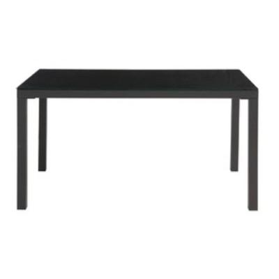 あずま工芸 TOCOM interior(トコムインテリア) ダイニングテーブル 強化ガラス天板 135×80cm【2梱包】 ブラック GDT-7639【代引不可】【同梱不可】[▲][TP]
