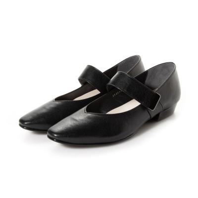 サヴァサヴァ cava cava ラクな履き心地なのにきちんと感◎ストラップシューズ (ブラック)