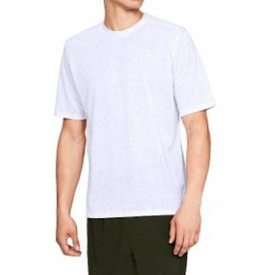 【セール】 アンダーアーマー メンズスポーツウェア 半袖機能Tシャツ UA Threadborne Print SS 1321930 100 メンズ WHT/ELE